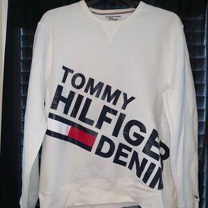 TOMMY HILFIGURE DENIM PULLOVER
